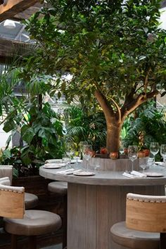 Newly opened European brasserie Blixen is an oasis beside Spitalfields Market. Step through the vine-covered pergola to a terrace featuring cacti and tropical palms from east London florists Grace & Thorn. The slow-cooked lamb with pistachio pesto is a Vogue favourite. 65A Brushfield Street, E1 6AA
