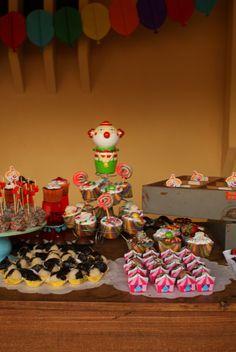Mesa do bolo! decoração de festa de 1 ano da Nila! ♥