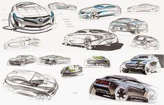 Car Design Sketches by Alexey Semenov