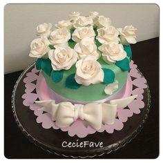 Bouquet di rose in gum past