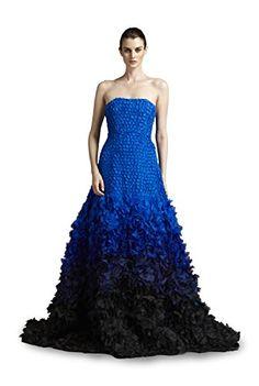 Fabiola Arias Women's Strapless Allover Petal Gown 0 Cobalt Blue to Black Ombre Fabiola Arias http://www.amazon.com/dp/B00NPJQY8A/ref=cm_sw_r_pi_dp_cQNYub015VCZY