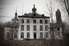 """Chateau Hogemeyer - Once built around 1750....somewhere in the lovely country of Belgium.  Many people lived in this place and did some work to it. The chapel was  added around 1860 then all info just stops. I guess nothing much happened.    In 2001 the """"chateau"""" and attached farm became monuments but it was abandoned for a long time before that and the weather took its toll...Pics taken by GER010."""