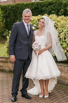 A 50's Style Gown and a 60's Inspired Short and Pretty Pouffy Veil | Love My Dress® UK Wedding Blog