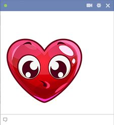 Surprised Heart Emoticon for Facebook