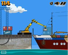 Free Brain Games Online – Shipping Yard  Working on the ship yard has never been easy. Your massive magnetic crane will help, but not too much. Moving the cargo from the platform onto the boat, you'll have to carefully place the cargo to the best of your ability, clicking to activate the magnetic pull and releasing to let it go. Don't throw it too far or you'll miss the target!