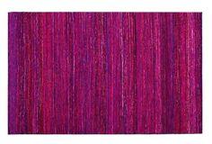 nuLOOM 4'x6' Sari Silk Rug, Pink