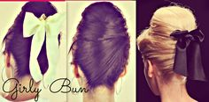 60s Hair Bun Tutorial. Love! Just hope I can get this to work for me. :)