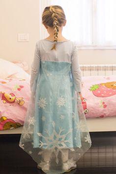 Elsa costume for girls tutorial
