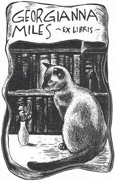 Ex libris by Priscilla Alpaugh Cotter