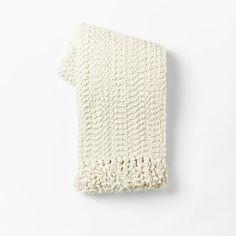Pebble Dot Throw - Zigzag | West Elm Love the cozy texture