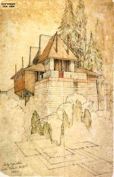 Frank Lloyd Wright | Lake Tahoe project