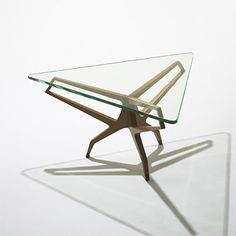 Franco Campo and Carlo Graffi, Attributed, Walnut Coffee Table c 1955.