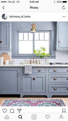 Elegant Farmhouse Style Kitchen Cabinets Design Ideas - Home Decor Ideas Kitchen Cabinet Design, Blue Kitchen Cabinets, Farmhouse Style Kitchen Cabinets, Kitchen Cabinets, Kitchen Cabinet Styles, Backsplash For White Cabinets, Home Kitchens, Kitchen Renovation, Kitchen Design