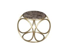 BRASS RINGS Dimensions: 45 x 45 x 48 other sizes available Brushed brass side table with marble or glass top. Also available as an upholstered seat.