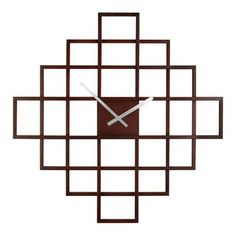 "Umbra Oversized Interval Clock - Espresso (24"")."