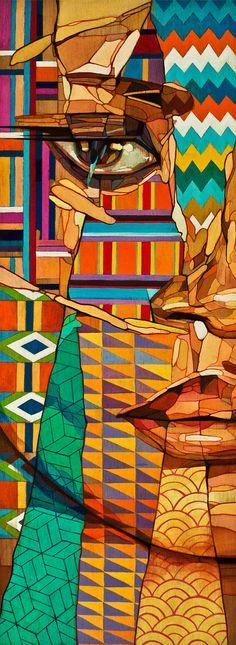 Bold illustration by Samuel Rodriguez Art Pop, Pintura Graffiti, Wow Art, Art Design, Art Plastique, Mosaic Art, Oeuvre D'art, African Art, Art Lessons