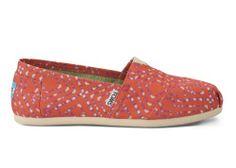 Coral Geometric Tie-Dyed Women's Classics | TOMS.com #toms