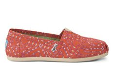 Coral Geometric Tie-Dyed Women's Classics | TOMS.com #toms available at Texas Ski Ranch