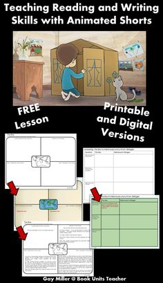 Free Printables to Use when Teaching Reading and Writing Skills with the Animated Short The Box - Book Units Teacher Reading Strategies, Reading Skills, Writing Skills, Teaching Reading, High School Reading, Middle School Ela, 4th Grade Reading, 6th Grade Ela, Fourth Grade