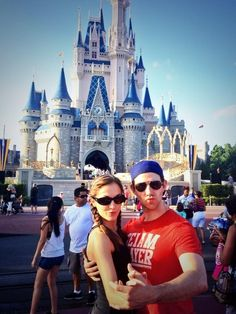 Laura Osnes and Santino Fontana disneyland I know Laura's married but she should divorce and marry Santino already!!!! #SANTRA ALL THE WAY