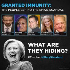 If Hillary is innocent why did they receive immunity from FBI?