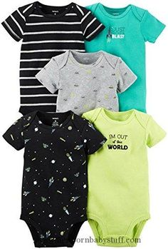 Baby Boy Clothes Carter's Baby Boys Multi-Pack Bodysuits, Assorted, 24 Months