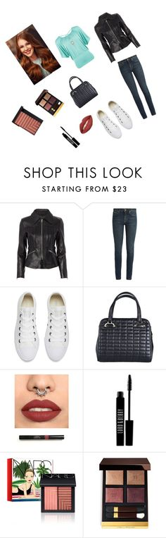"""""""Going out with friends..."""" by elbar-fan1 ❤ liked on Polyvore featuring Alexander Wang, Yves Saint Laurent, Converse, Lord & Berry, NARS Cosmetics, Tom Ford and WearAll"""