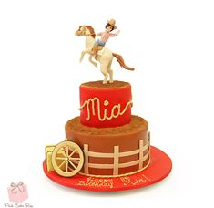 Rodeo Themed Birthday Cake by Pink Cake Box
