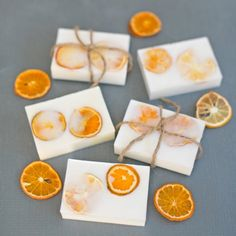 These easy handmade goat's milk citrus soaps make pretty and useful gifts. Fun to make with kids too!