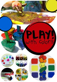 There are few things that children enjoy more than bright colors! Here are 12 ways for preschoolers to play with color! Your preschoolers will go nuts...