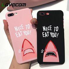 389870cac4b LOVECOM Phone Case For iPhone 5 5S SE 6 6S 7 8 Plus X Cartoon Shark