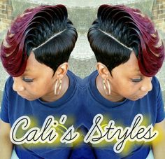 @cali_styles_hair 27 Piece Hairstyles, Quick Weave Hairstyles, Dope Hairstyles, Cute Hairstyles For Short Hair, My Hairstyle, Black Girls Hairstyles, African Hairstyles, Quick Weave Styles, Short Quick Weave