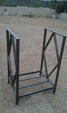 Firewood Holder  Handmade solid steel. Heavy. by deBurghSteel