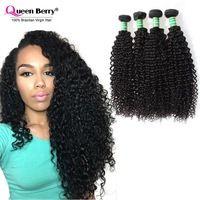 New Arrival 7A Brazilian Kinky Curly Virgin Hair Brazilian Curly Hair Weave Nature Black 1B# 3pcs 100% Human Beauty Hair Bundles
