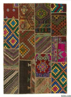 Vintage Patchwork Rugs | Kilim Rugs, Overdyed Vintage Rugs, Hand-made Turkish…