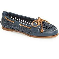 Sperry Top-Sider® 'Audrey' Open Weave Leather Boat Shoe | Nordstrom