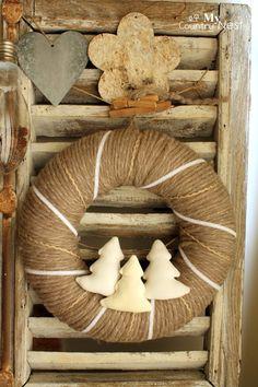 Free tutorial: winter wreath ghirlanda invernale