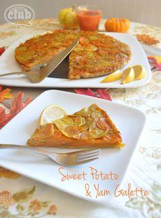 Sweet Potato and Yam Galette Recipe #HolidayVeggies via @ChicaPauline