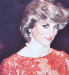 """Princess Diana with that flirty """"up look"""" she did so often"""
