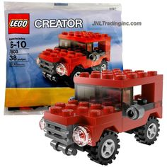 Lego Creator Series Bagged Set # 7803 - RED JEEP (Total Pieces: 38)