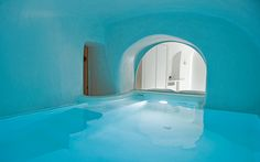 Pool caves offer a unique space to relax and cool off in the shade.