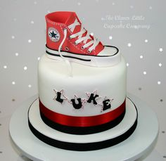 Converse Boot Birthday Cake by The Clever Little Cupcake Company (Amanda), via Flickr
