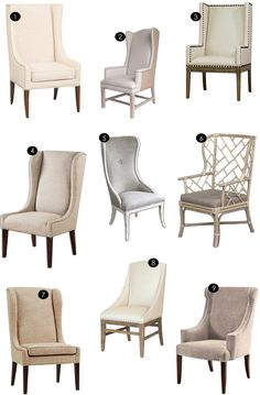 Host + Hostess Chairs   Kiki's List. Are any available without the nailhead trim?