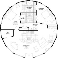 Deltec Homes- Floorplan Gallery | Round Floorplans | Custom Floorplans