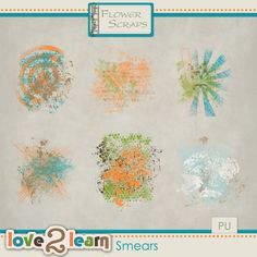 Love To Learn Smears by Flower Scraps 2.00 #flowerscraps #thestudio #digitalscrapbooking