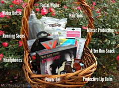 A gift for runners a diy creative box full of running goodies create a runner gift basket with goodnessknows snack squares negle Choice Image