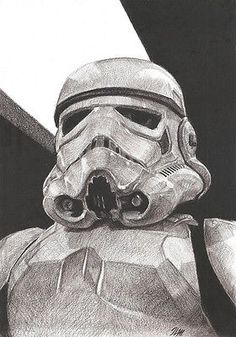 Stormtrooper Star Wars Original Hand Drawn Pencil Drawing, Science Fiction Art in Art, Direct from the Artist, Drawings | eBay!