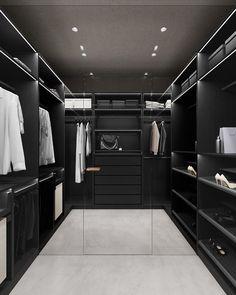 Home Building Design, Home Room Design, Dream Home Design, Modern House Design, Black Bedroom Design, Black Interior Design, Bathroom Design Luxury, Dream House Interior, Luxury Homes Dream Houses