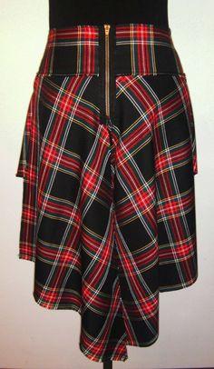 Tartan skirt - back