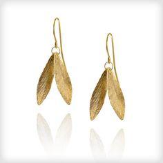 Catherine Zoraida Gold Double Leaf Earrings | Cotton & Gems
